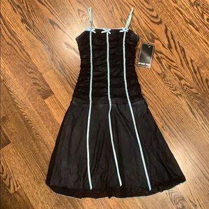 Nwt un deux trous rouched dress girls size M